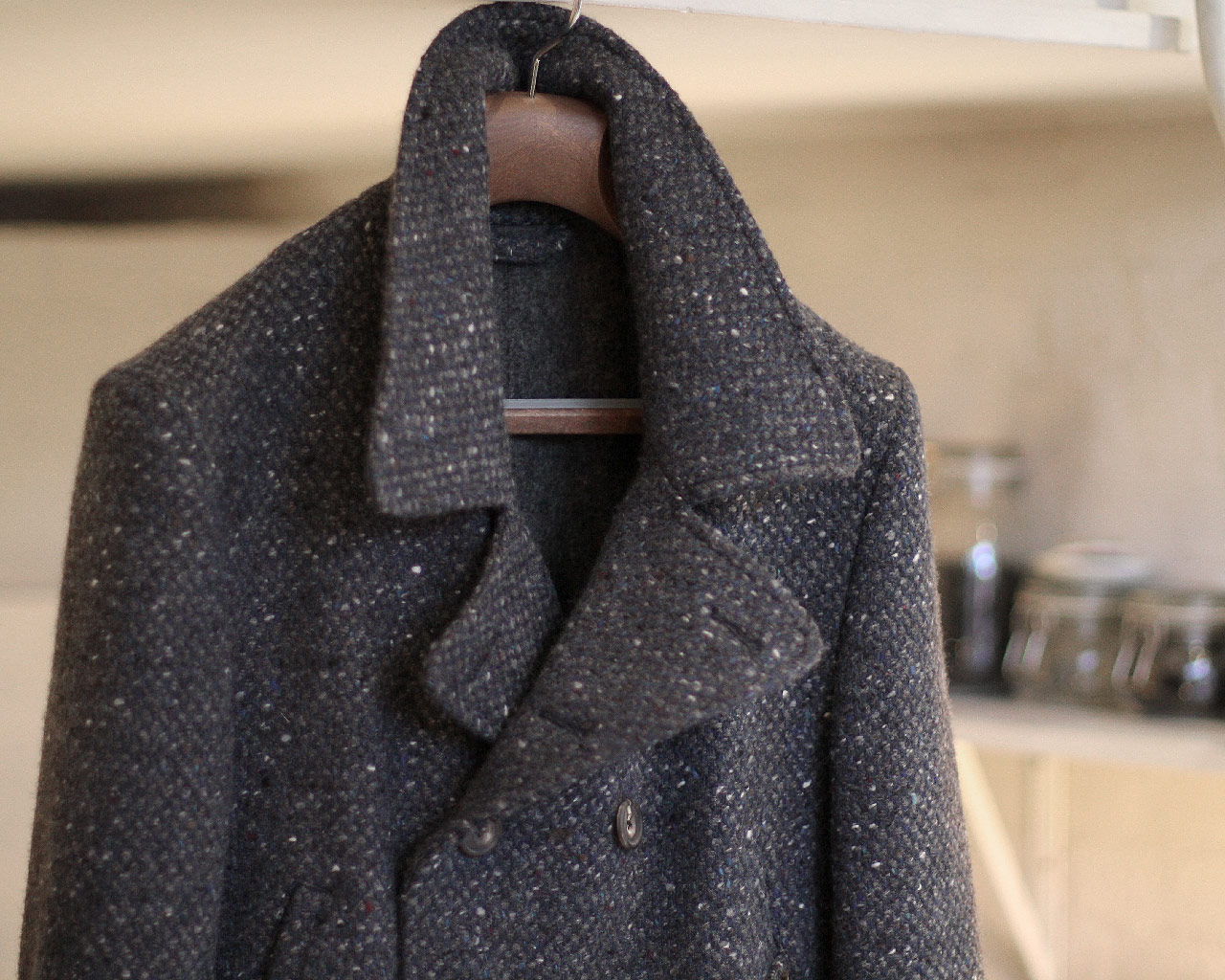 Donegal Tweed Peacoat