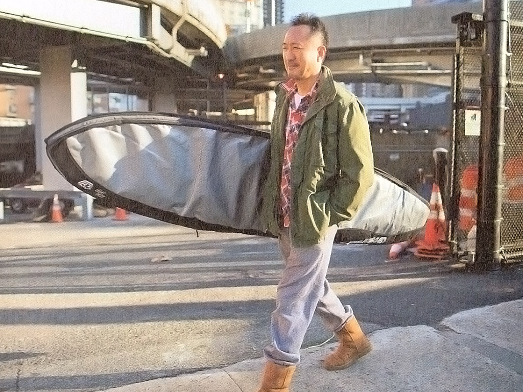 – Sunday – Jacket: Used / Shirt: Used / Pants: Engineered Garments / Shoes: UGG