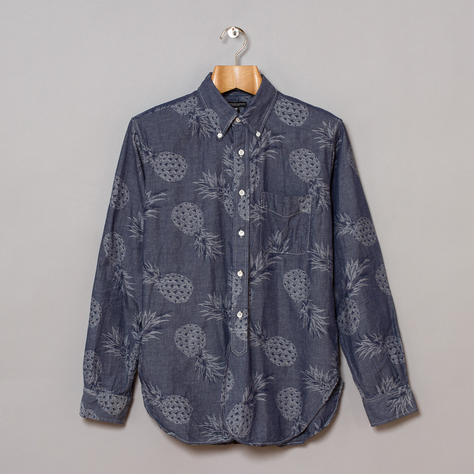 Engineered Garments 19th Century BD Shirt, Pineapple Chambray