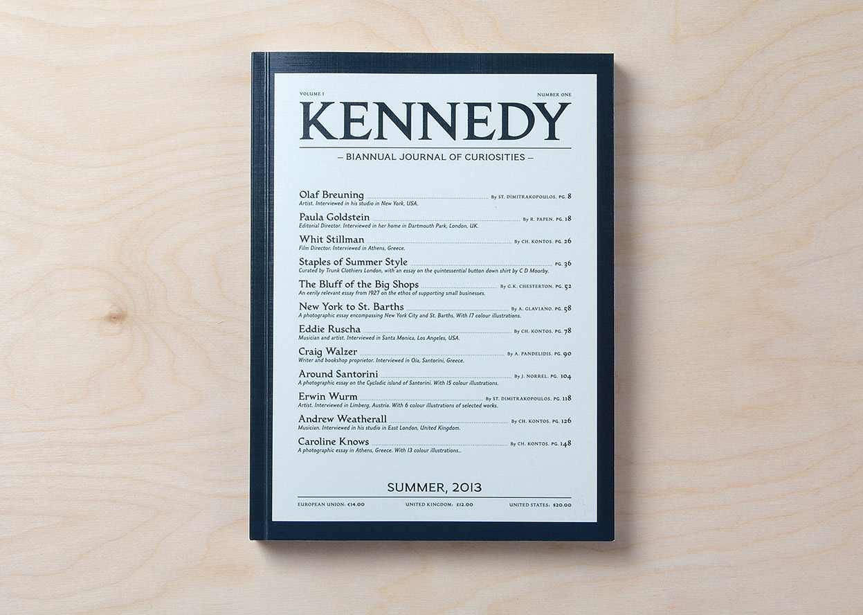 Kennedy Magazine – a Biannual Journal of uriosities
