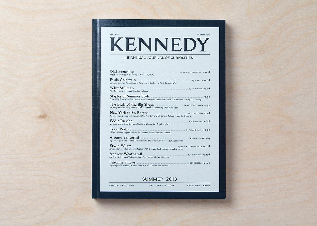 Kennedy Magazine – a Biannual Journal of uriosities