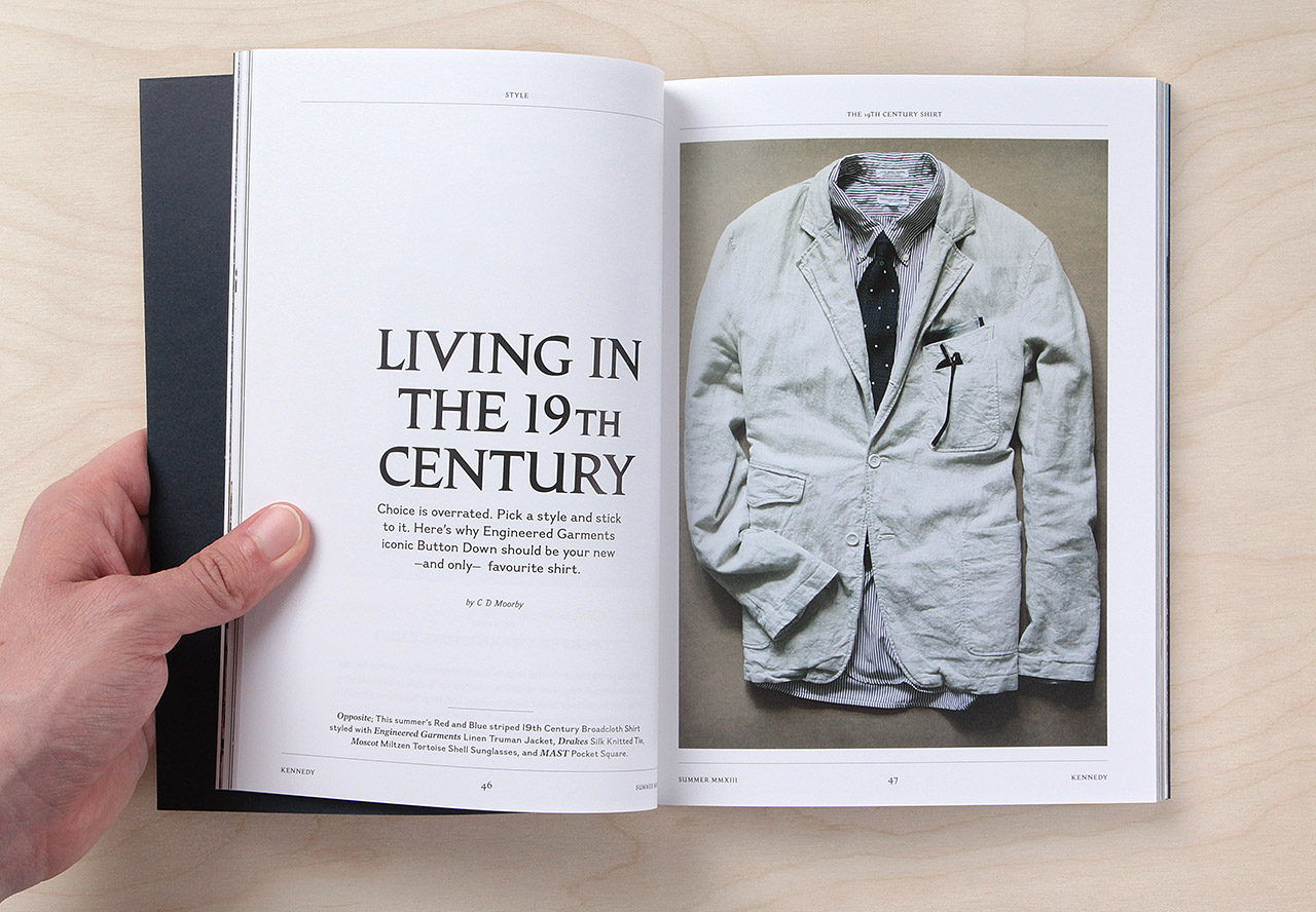 Buy a copy of Kennedy Magazine to find out how I smash two of my favourite topics (Seinfeld and Engineered Garments) into one article.