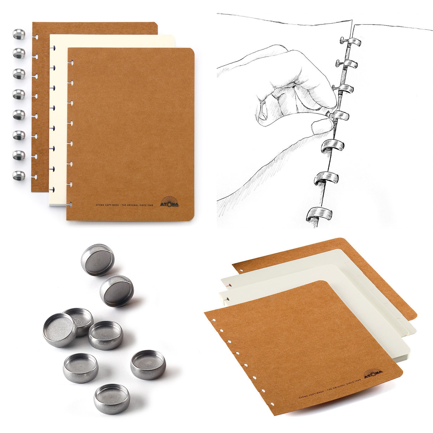 ATOMA Loose leaf binders