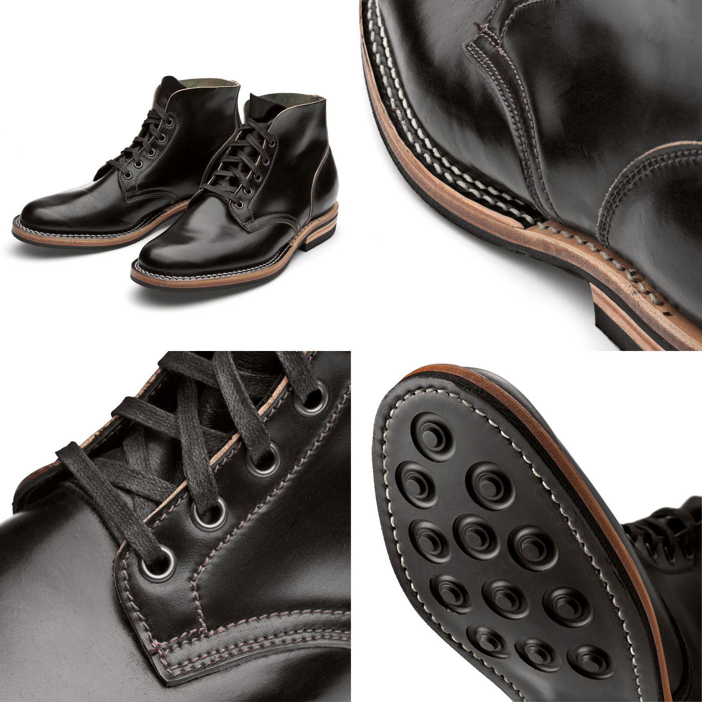Viberg Shell Cordovan Boot details