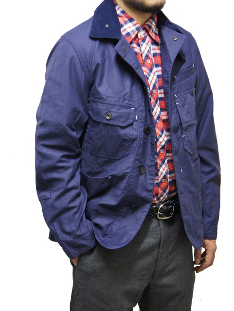 Coverall Jacket Nyco Reversed Sateen Navy